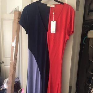 Tory Burch Color Block Dress NWOT